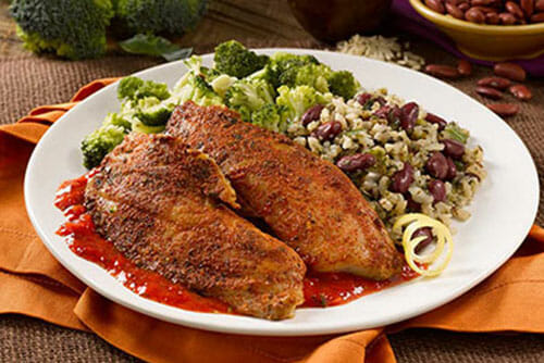 Blackened Tilapia with Red Pepper Coulis