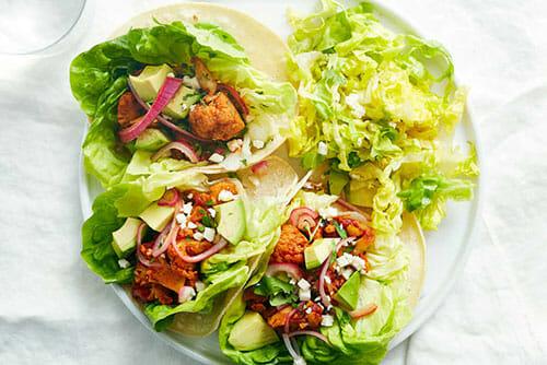 Cauliflower Tinga Tacos