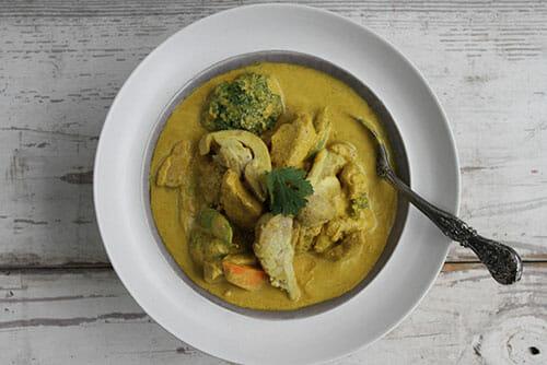 Coconut Curry Chicken Stew