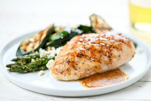 Grilled Chickenwith Mustard Vinaigrette