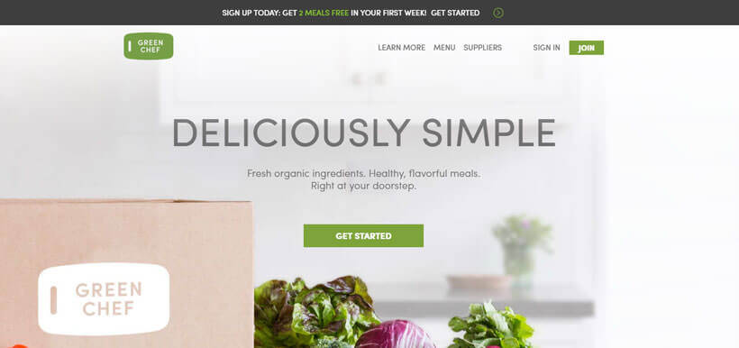 Green Chef homepage