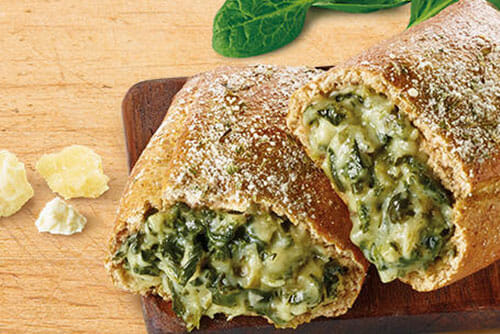 Spinach Cheese Pretzel Melt