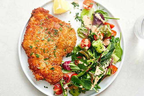 Tahini Chicken Schnitzel
