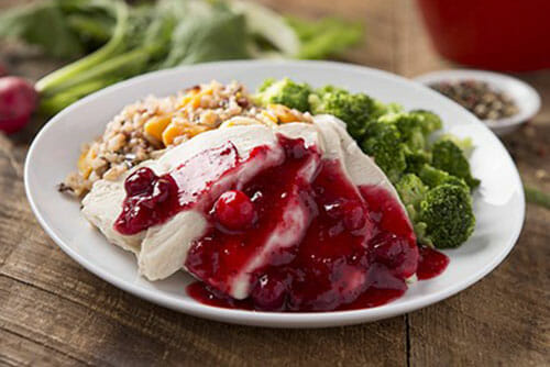 Turkey-Breast with Cranberry-Chutney and Wild Rice Blend