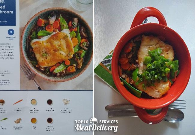 blue apron cod and mushroom broth