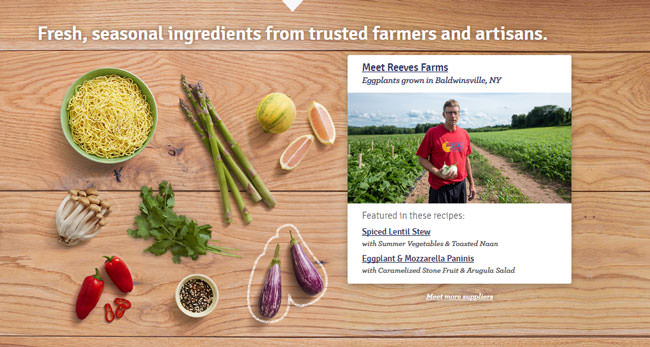 blue apron food growing system