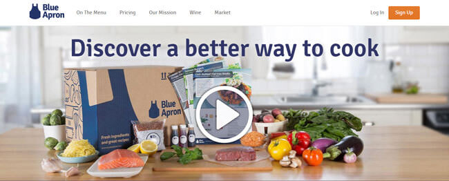 blue apron homepage