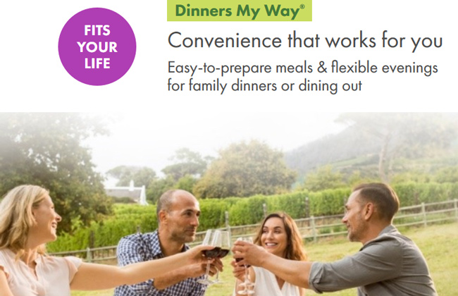 dinners my way nutrisystem