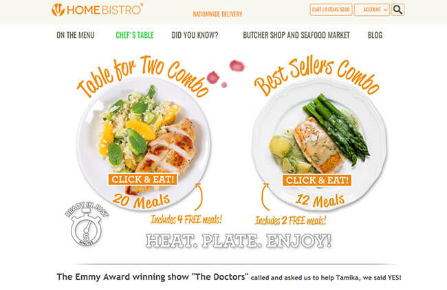 Home Bistro homepage