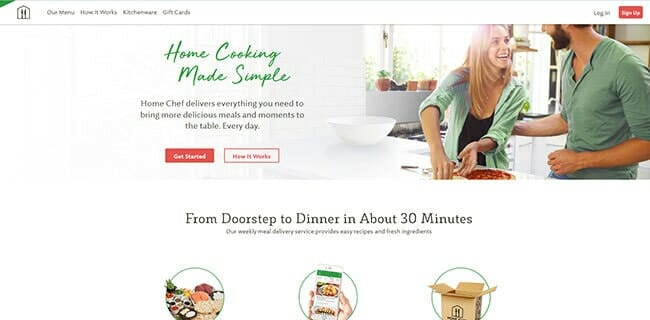 homepage home chef