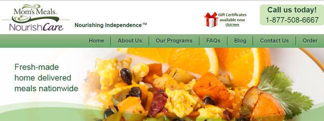 moms meals homepage