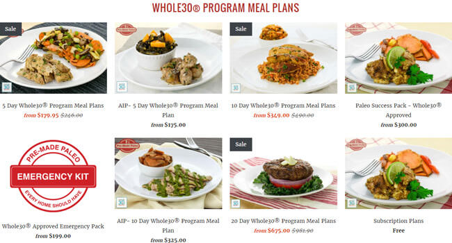 pre made paleo meal plans