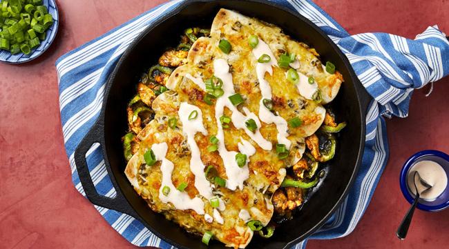HelloFresh salsa verde chicken enchiladas