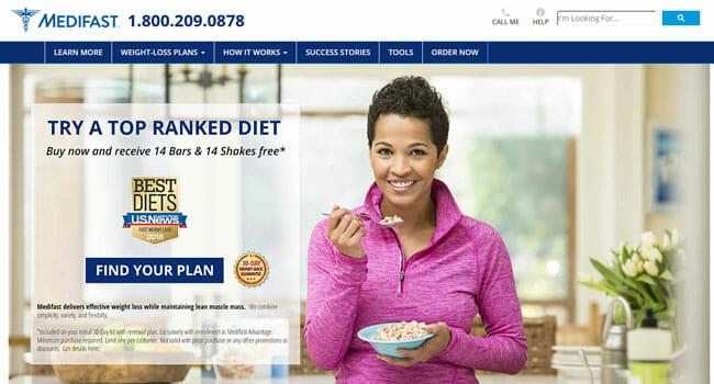 Medifast homepage