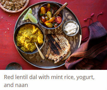 red-lentil-dal-with-mint-rice-yogurt-and-naan