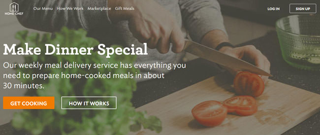 home chef homepage