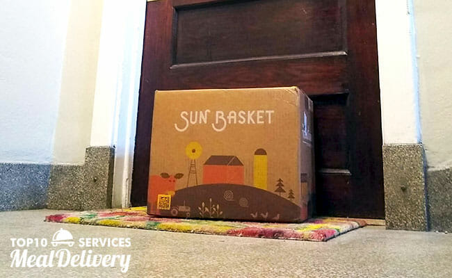 sun basket box delivered