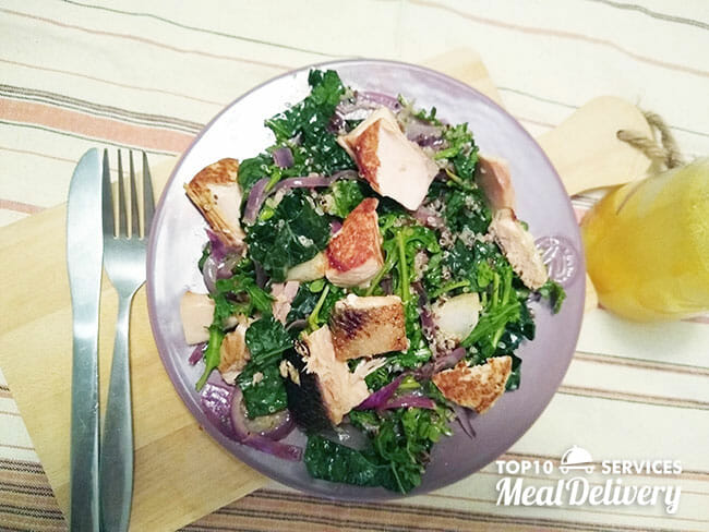 sun basket salmon salad with quinoa