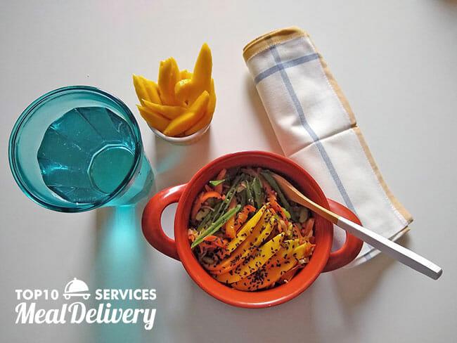 sun basket spicy yoba noodle stir fry