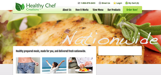 Healthy Chef Creations homepage