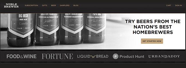 Noble Brewer homepage