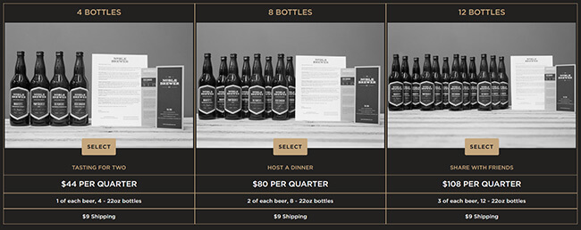 Noble Brewer Pricing