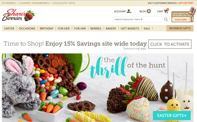 Sharis Berries Homepage