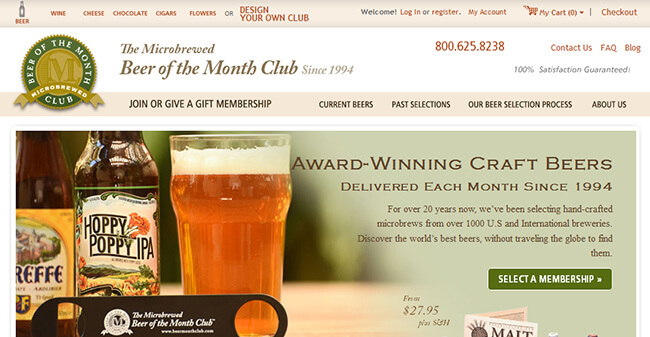 The Microbrewed Beer Of The Month Club homepage