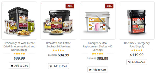 Wise Food Storage Pricing
