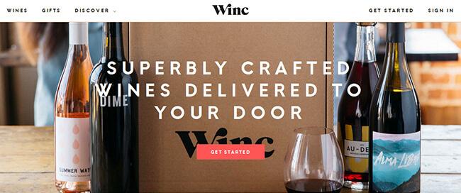 winc homepage