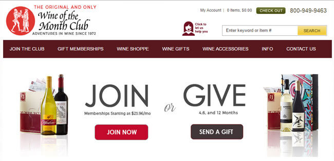Wine of the Month Home Page