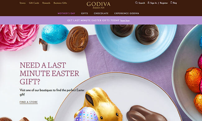 GODIVA Homepage