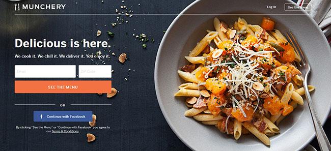 Munchery Homepage