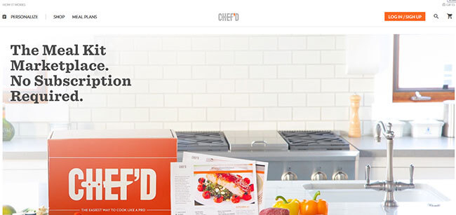 Chef'd Homepage