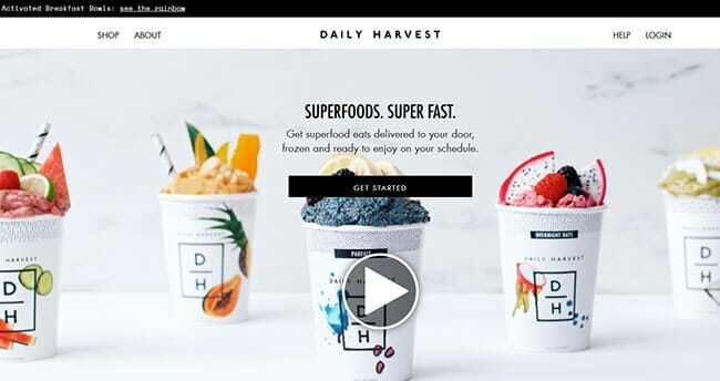 Homepage Daily Harvest