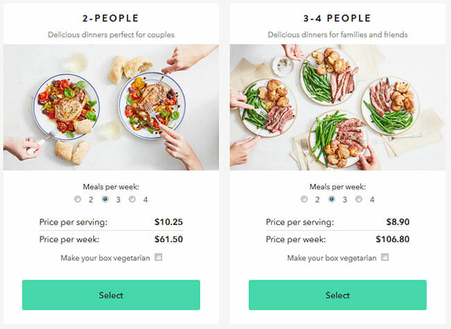 Marley Spoon Pricing