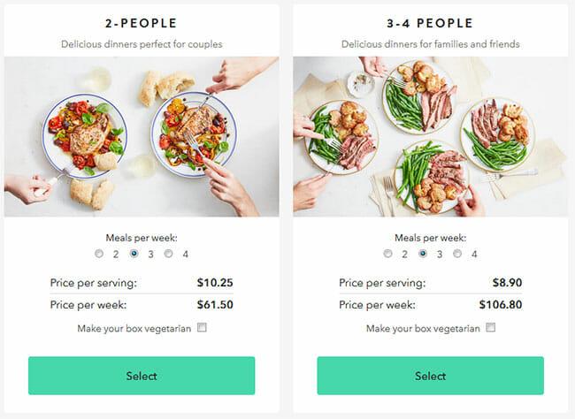 Marley Spoon Pricing