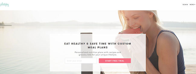 PlateJoy Homepage