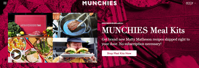 munchies homepage