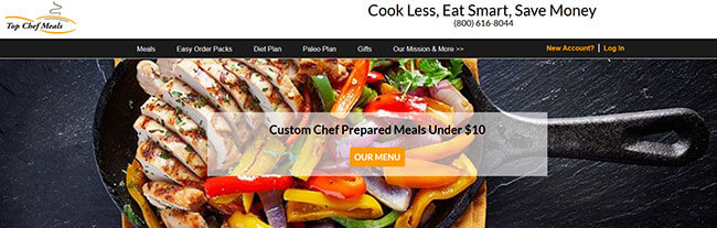 top chef meals homepage