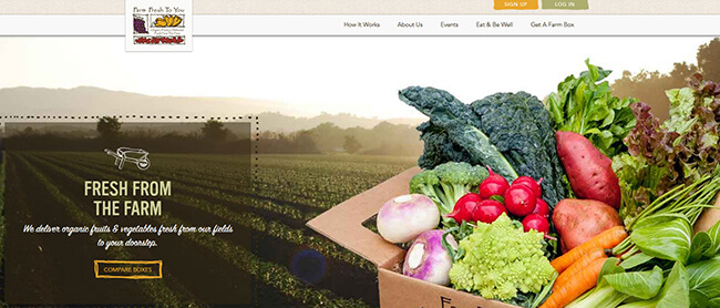 Farm Fresh To You homepage