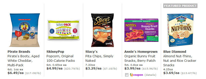 FreshDirect snacks