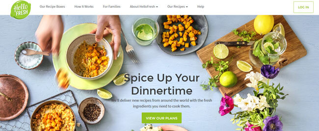 HelloFresh UK homepage