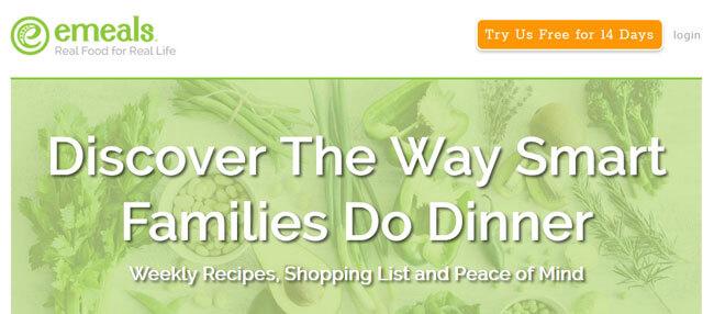 eMeals homepage