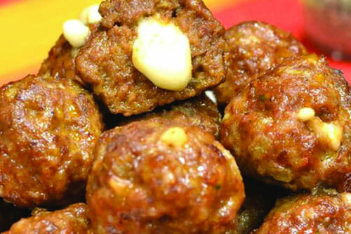 Bacon Mozzerella Meatballs