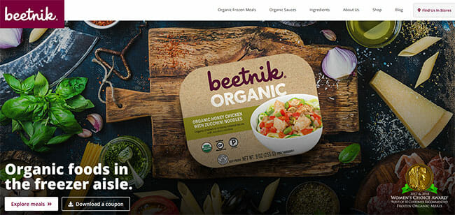 Beetnik Foods homepage