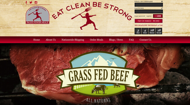 Paleo Power Meals homepage