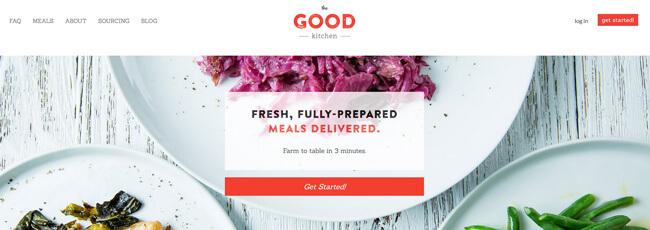 The Good Kitchen homepage