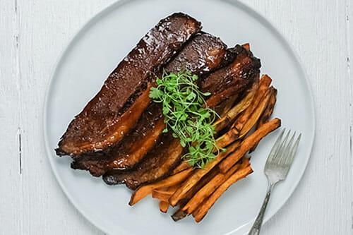Braised BBQ Brisket Fork