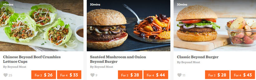 chefd beyond meat prices